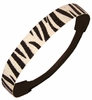 Glitter Headband Black/White Zebra