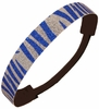Glitter Headband Blue and Silver Zebra
