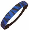Glitter Headband Blue/Black Zebra