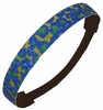 Glitter Headband Blue/Lime Cheetah