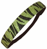 Glitter Headband Emerald Green/Black Zebra