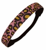 Glitter Headband Light Pink/Black  Cheetah