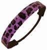 Glitter Headband Light Purple/Black Cheetah