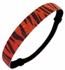 Glitter Headband Orange and Black Zebra Print