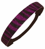 Glitter Headband Purple and Black Zebra
