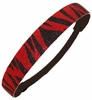 Glitter Headband Red and Black Zebra Print