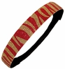Glitter Headband Red and Gold Zebra