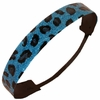 Glitter Headband Teal/Black Cheetah Print