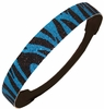 Glitter Headband Teal/Black Zebra
