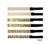 Glitter Headbands White and Gold Zebra 6 Pack