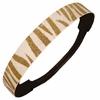 Glitter Headband White/Gold Zebra