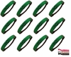 Glitter Headbands 12 Pack Green