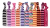 Ponytail Holders Hair Ties - 10 Pack Chevron - By Kenz Laurenz