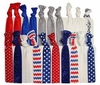 Hair Ties 20 Pack Fourth of July