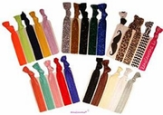 Hair Ties 25 Pack Glitters, Solids, and Prints