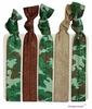 Hair Ties 5 Pack Camo