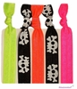 Hair Ties 5 Pack Skulls and Neon