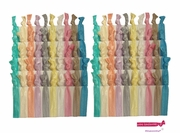 Hair Ties Pastels 100 Pack