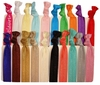 Hair Ties Ponytail Holders - 20 Pack Solid Prepack  - By Kenz Laurenz