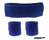 Headband and Wristbands 3 Pack Blue