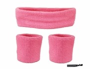Headband and Wristbands 3 Pack Pink