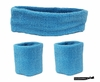 Headband and Wristbands 3 Pack Teal