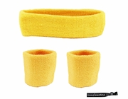 Headband and Wristbands 3 Pack Yellow