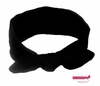 Knotted Cotton Bow Headband Black
