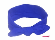 Knotted Cotton Bow Headband Blue