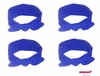 Knotted Cotton Bow Headband Blue 4 Pack