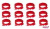 Knotted Cotton Bow Headband Red 12 Pack