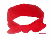 Knotted Cotton Bow Headband Red