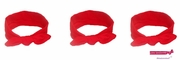 Knotted Cotton Bow Headband Red 3 Pack