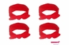 Knotted Cotton Bow Headband Red 4 Pack