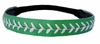 Leather Softball Seam Stitch Headband Green White
