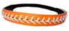 Leather Softball Seam Stitch Headband Orange White