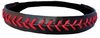 Leather Softball Seam Stitch Headbands Black Red