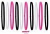 Mini Headbands Pink Black White Assorted 10 Pack