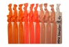 Orange Ombre 20 Pack Hair Ties