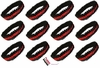 Sequin Headbands 12 Pack Black and Red