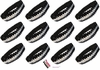 Sequin Headbands 12 Pack Black and Silver