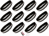 Sequin Headbands 12 Pack Black and White