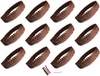 Sequin Headbands 12 Pack Brown