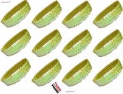 Sequin Headbands 12 Pack Lime
