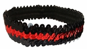 Sequin Headbands Black and Red