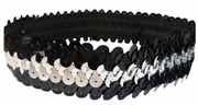 Sequin Headbands Black and Silver