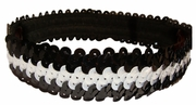 Sequin Headbands Black and White