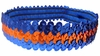 Sequin Headbands Blue and Orange