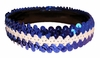 Sequin Headbands Blue and White