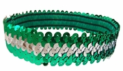 Sequin Headbands Green and Silver